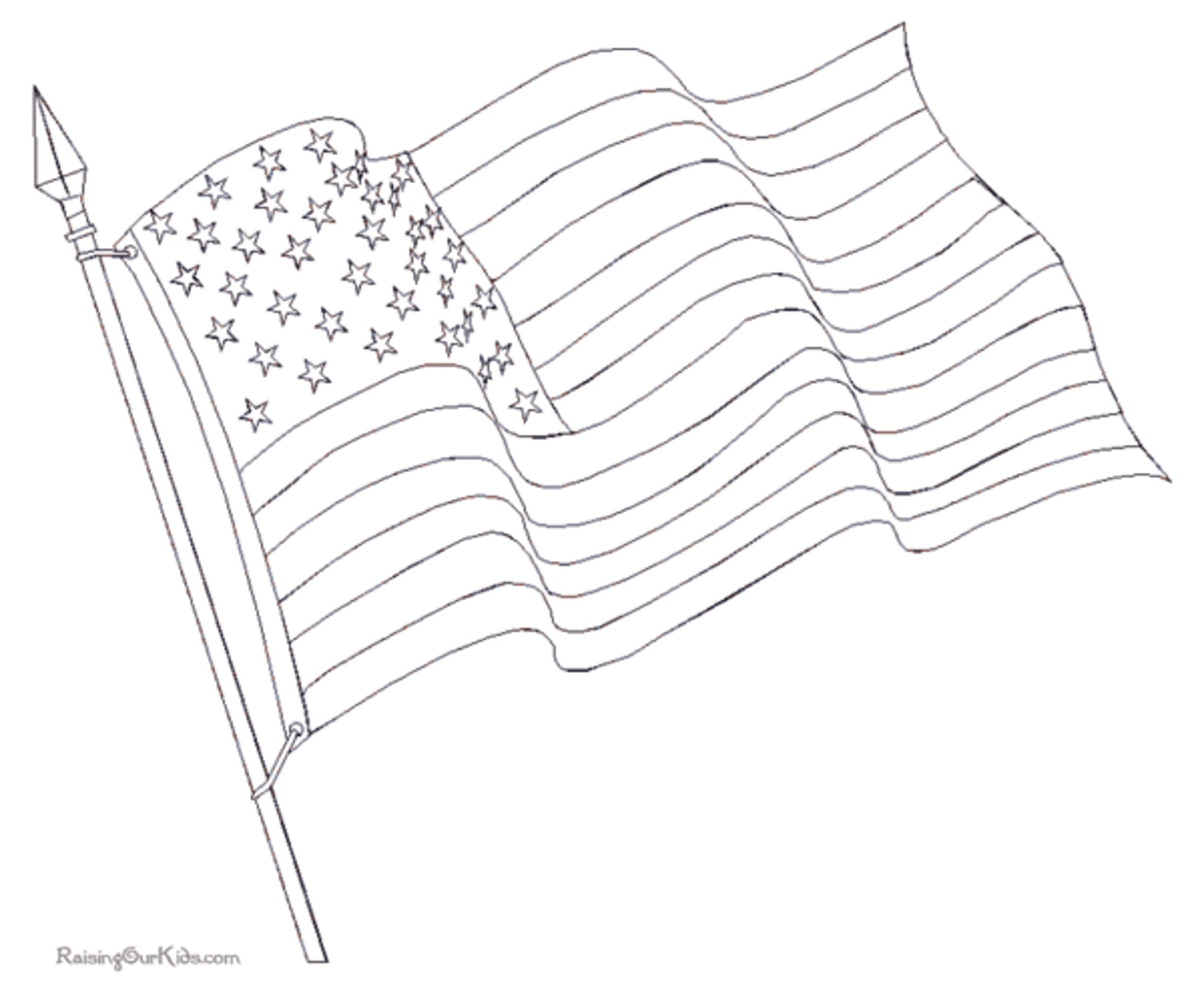 free waving american flag
