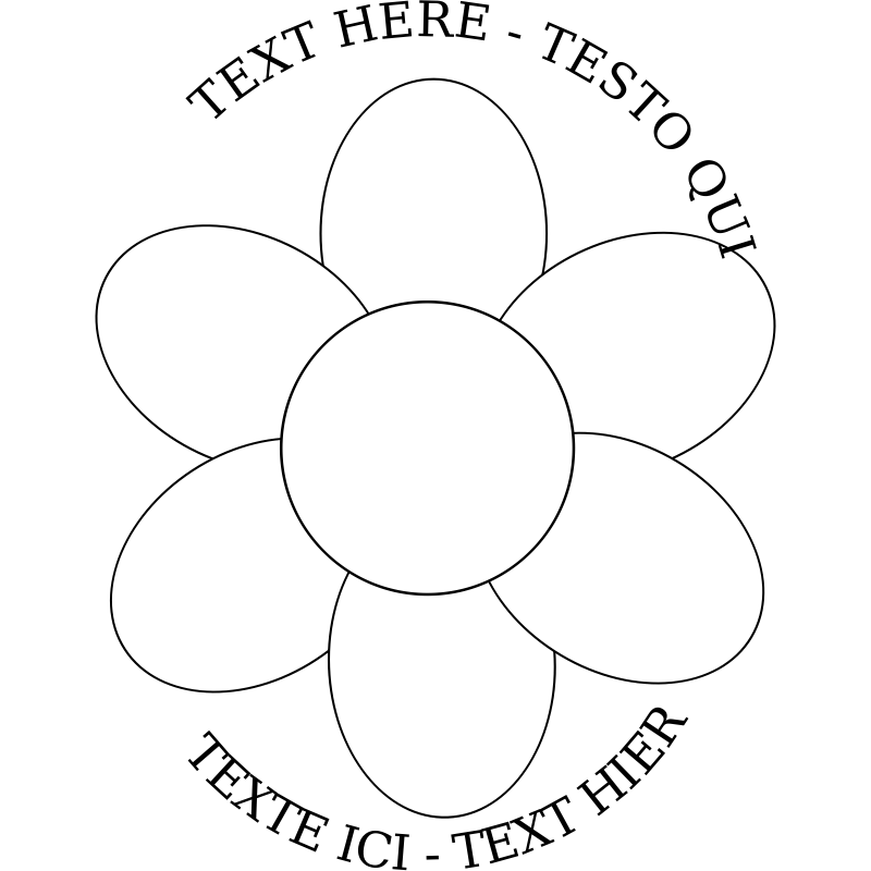 Free Six Petal Flower Template, Download Free Clip Art