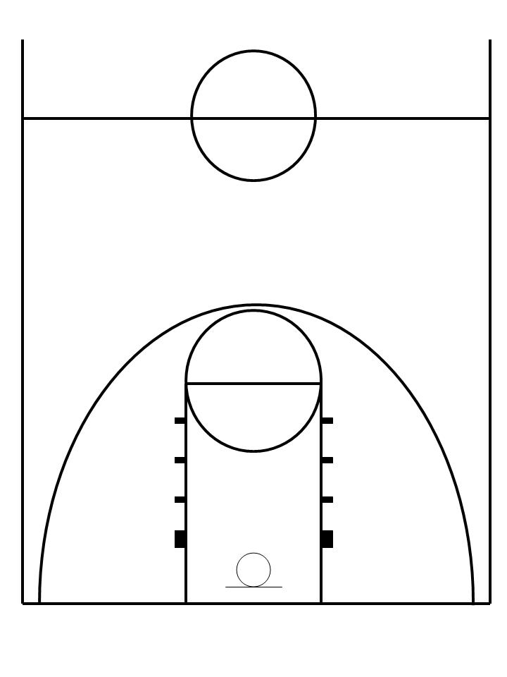 free printable basketball court diagrams traxxas t maxx parts diagram half layout schematic clipart download clip art