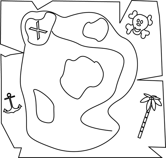 Free Treasure Map Outline, Download Free Clip Art, Free