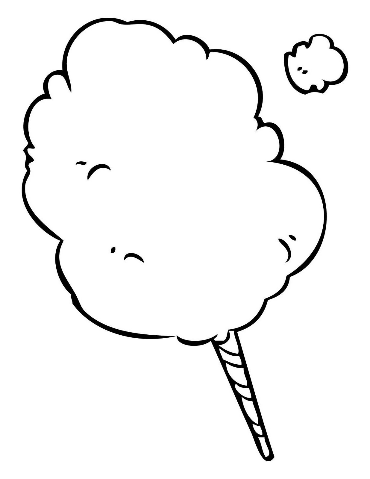 hight resolution of cotton candy colouring pages