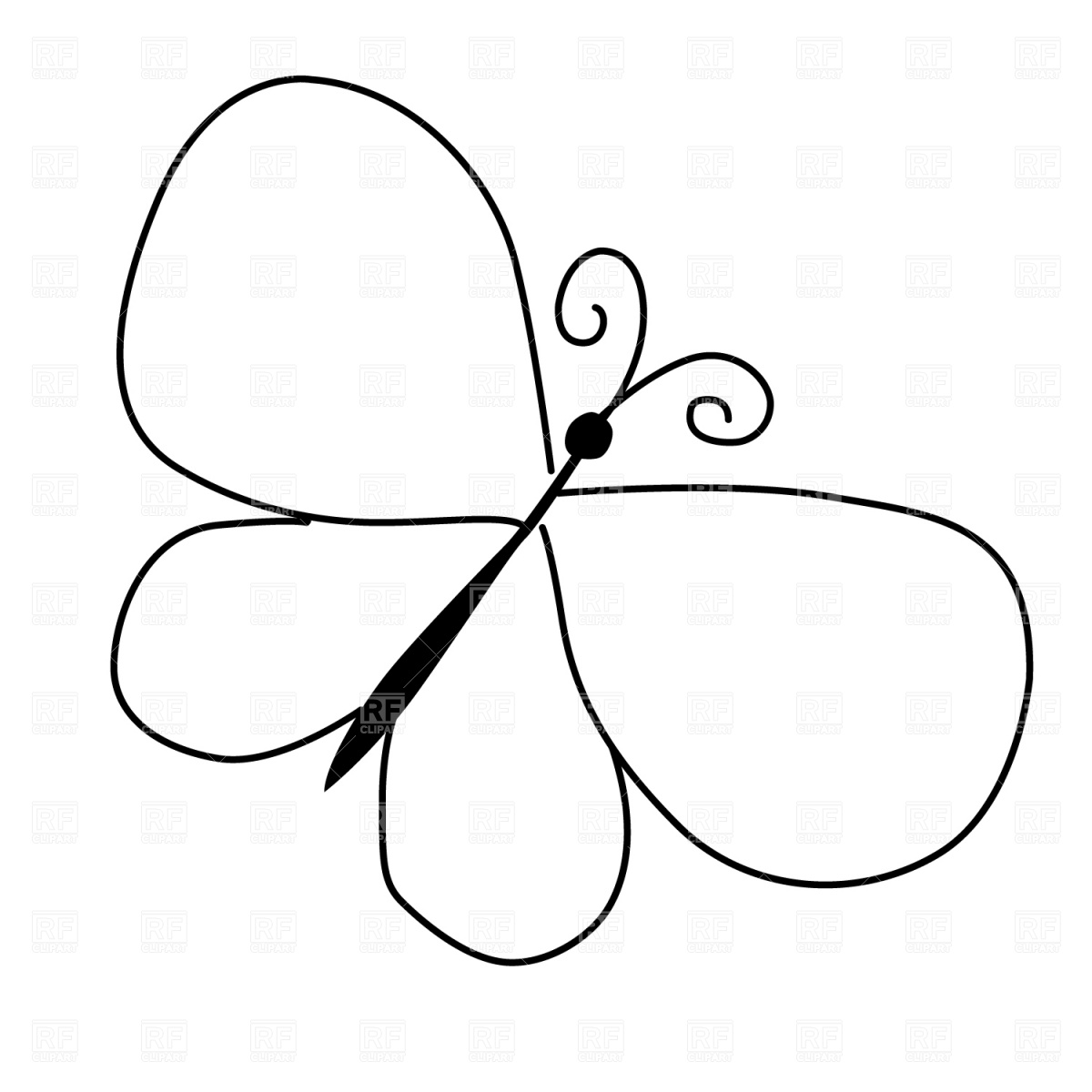Free Butterfly Outline Download Free Clip Art Free Clip Art On Clipart Library
