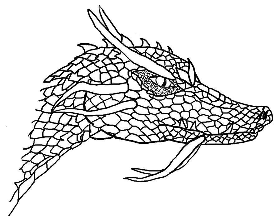 Free Simple Dragon Outline, Download Free Clip Art, Free