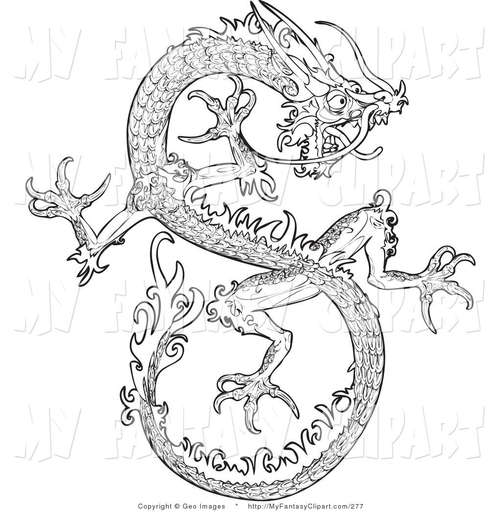 Royalty Free Chinese Dragon Stock Fantasy Designs