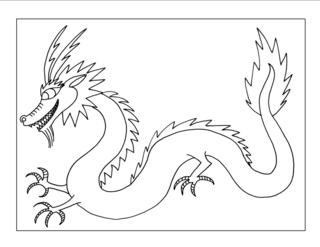 Free Chinese Dragon Drawing, Download Free Clip Art, Free