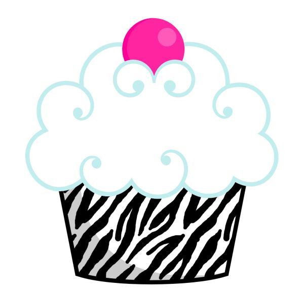 free outline of cupcake with face