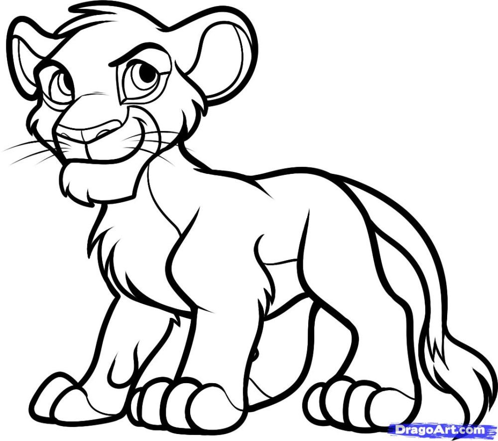 medium resolution of how to draw simba from the lion king step by step disney