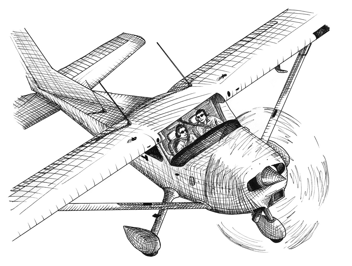 Popular items for airplane drawing on Etsy
