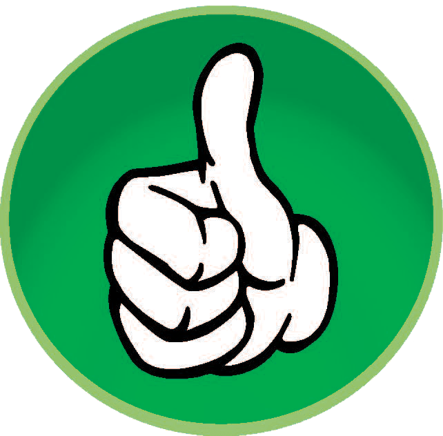 free thumbs up transparent