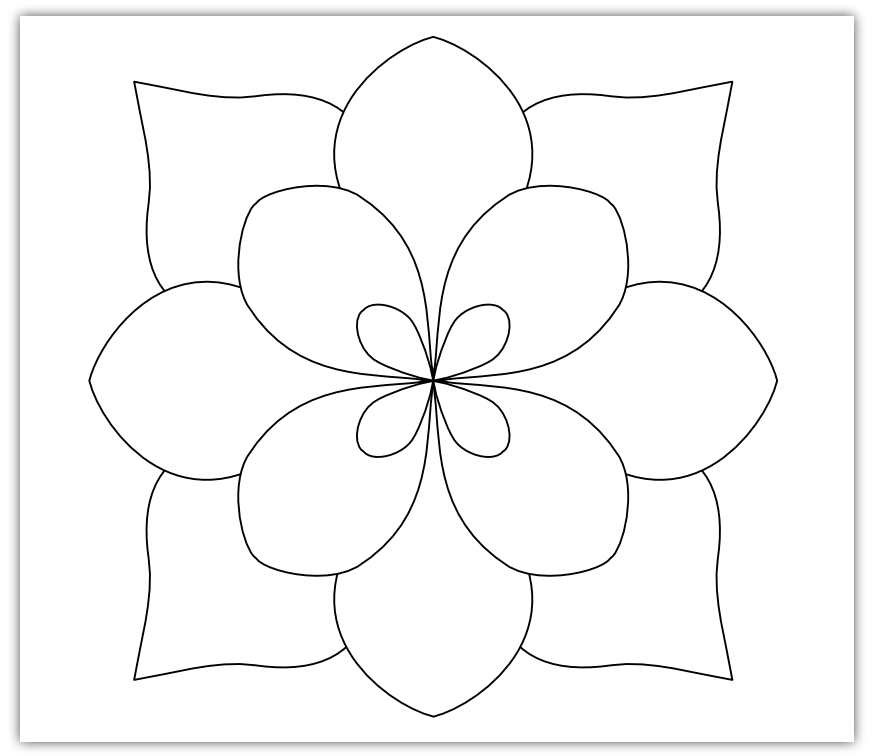 Free Simple Flower Template, Download Free Clip Art, Free