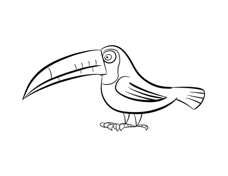 Free Toucan Outline, Download Free Clip Art, Free Clip Art
