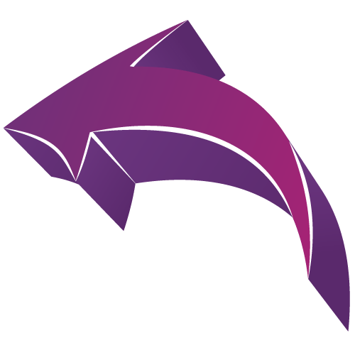 Cute Curved Arrow Graphic