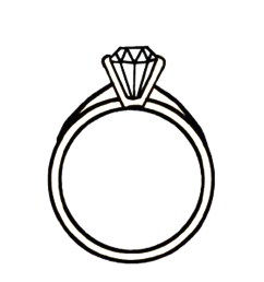 diamond ring clipart clipart library free clipart images [ 1375 x 1500 Pixel ]