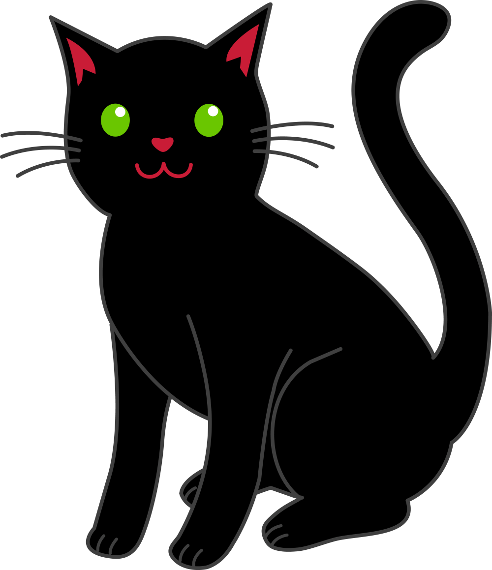 medium resolution of black cat clip art free clipart library free clipart images