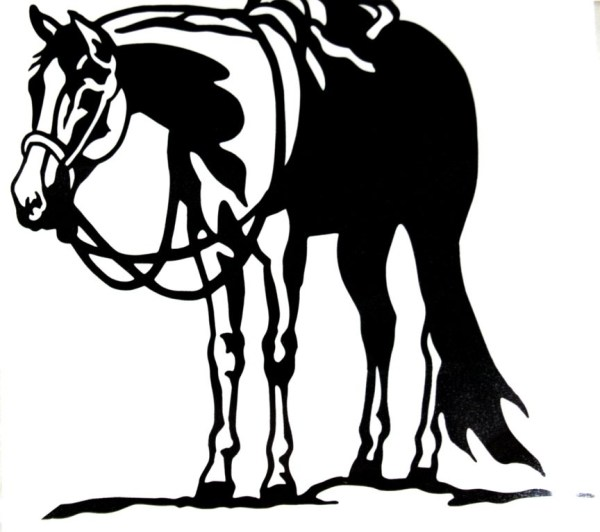 Western Horse Silhouette