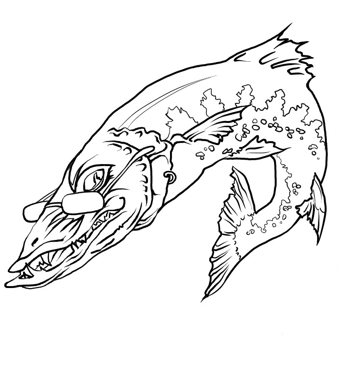 fish teeth Colouring Pages (page 2)