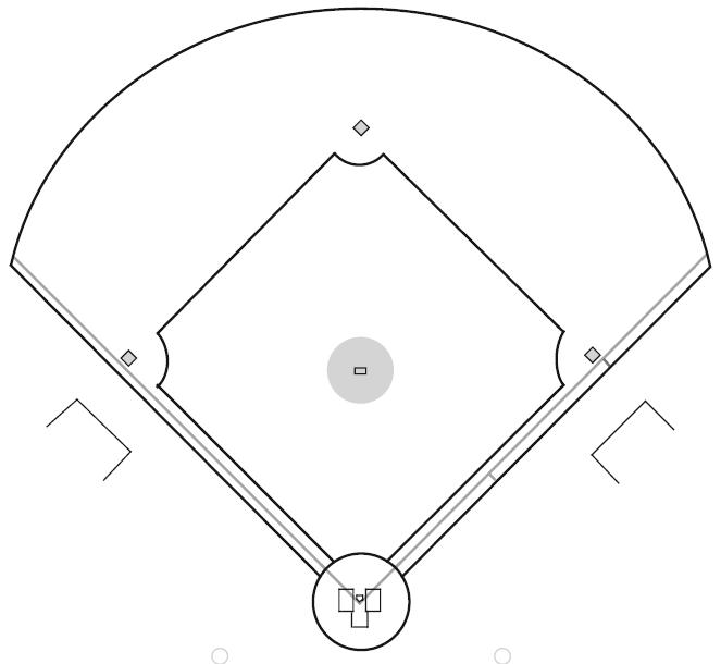 Free Black And White Baseball Diamond, Download Free Clip
