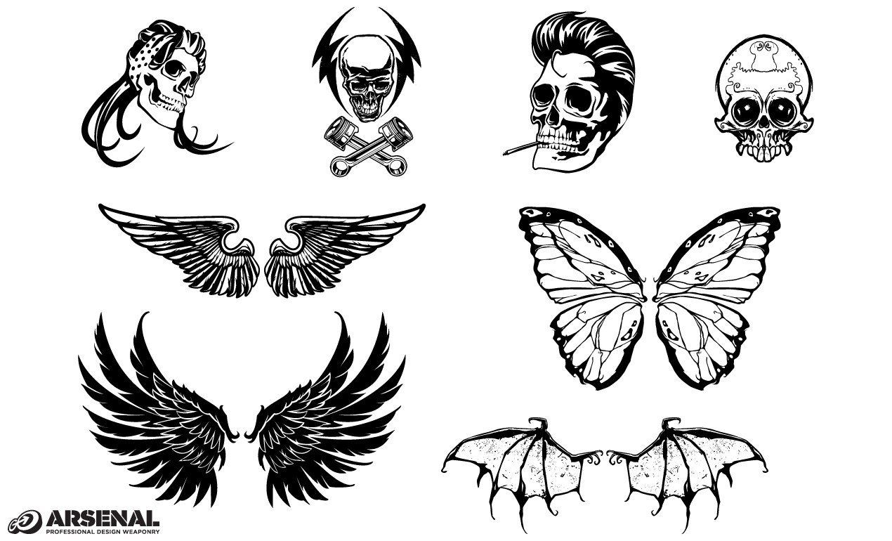 Free Skull With Wings, Download Free Clip Art, Free Clip