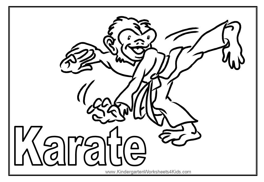 Free Spongebob Karate Coloring Pictures, Download Free