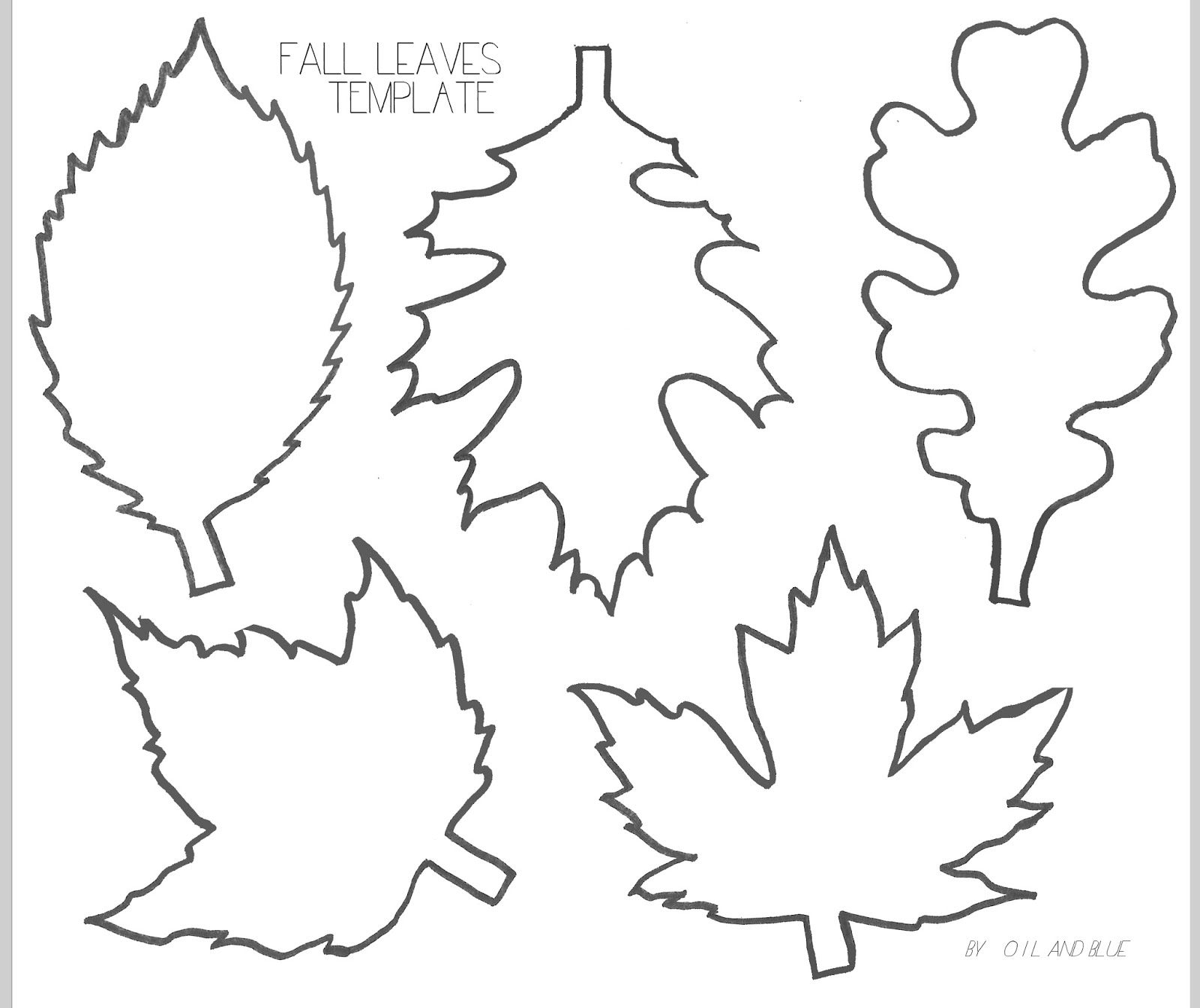 Leaf Template Printable Free That Are Dramatic