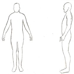 body template outline human side printable clipart diagram male anatomy deviantart front library clip heart 2d