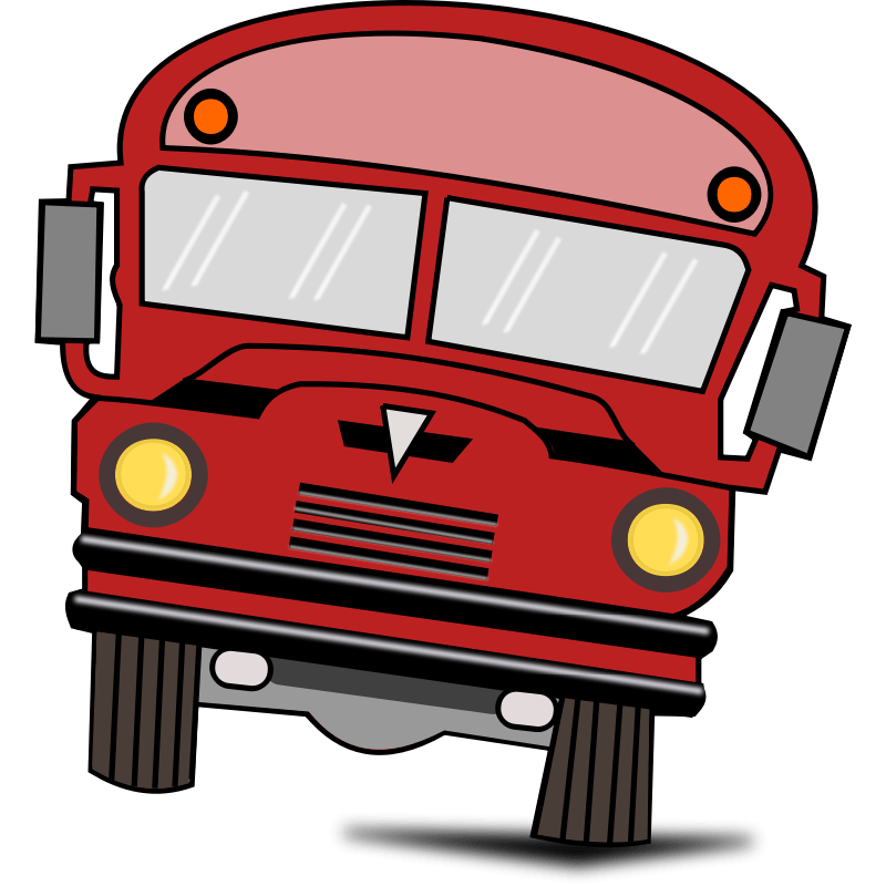 Image result for cartoon red bus