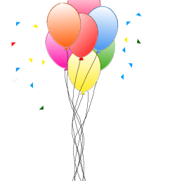 party balloons png clipart library [ 1200 x 1600 Pixel ]