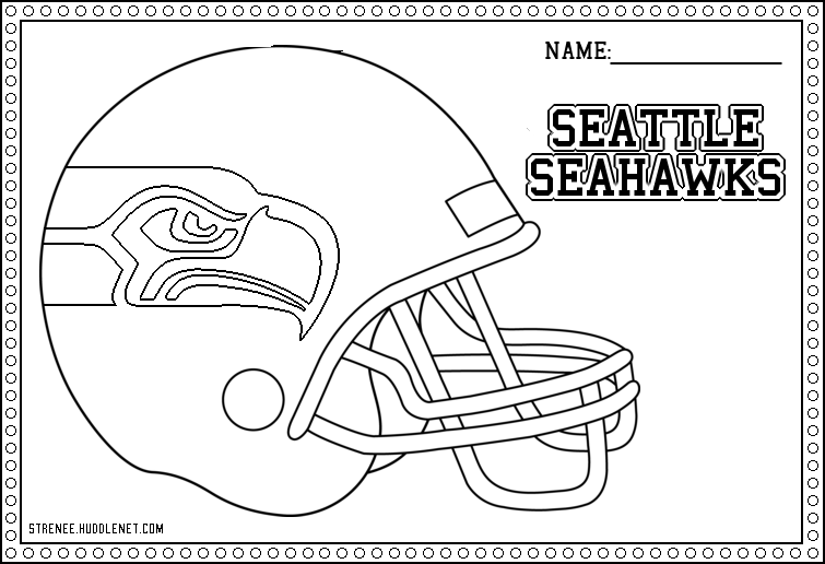 Free Sea Hawks Iogo On Helment Drawing, Download Free Clip