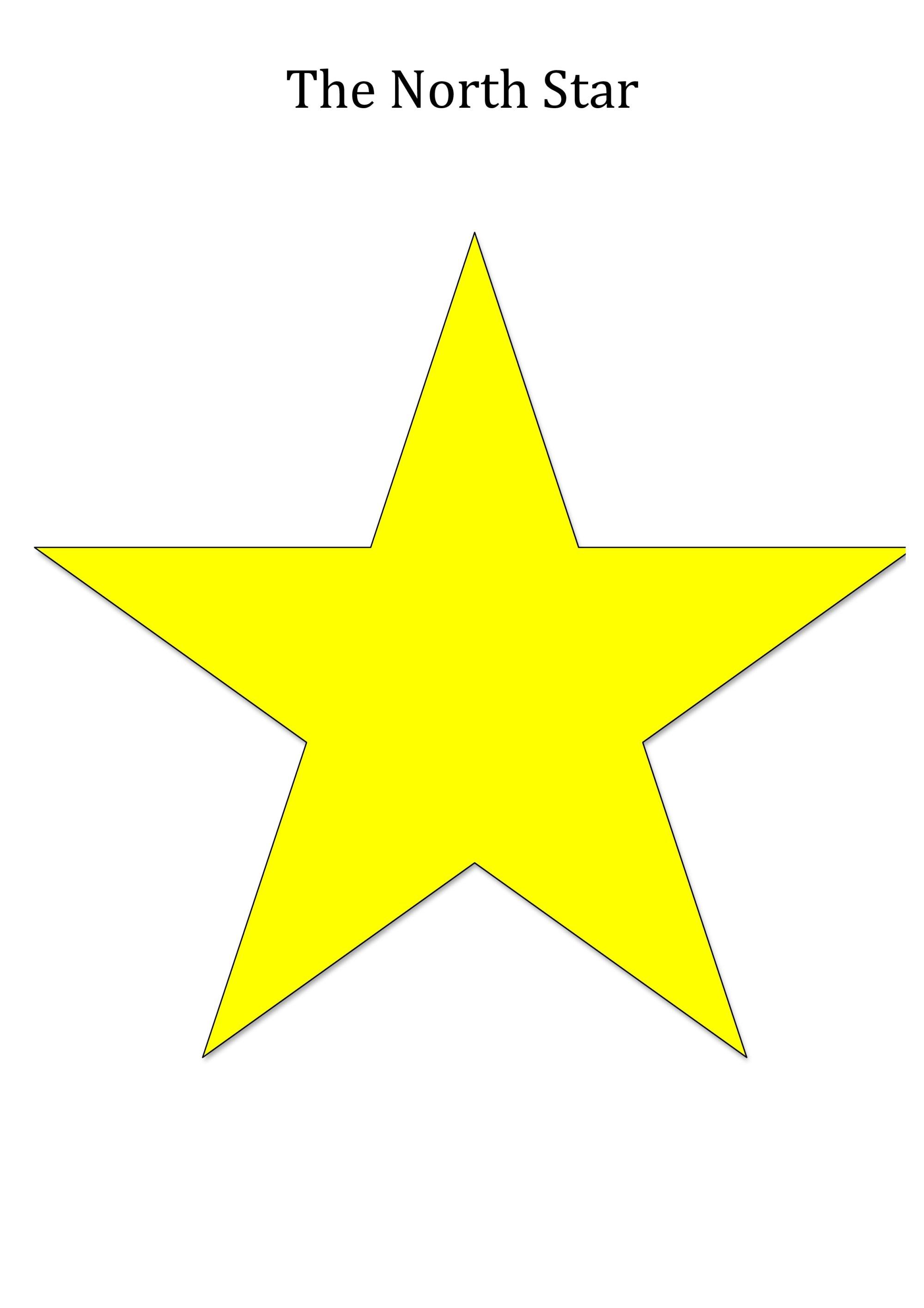 hight resolution of north star shape for teaching seasons unawe