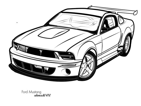 Ford Mustang Vector Art by ahmad0410 on Clipart library