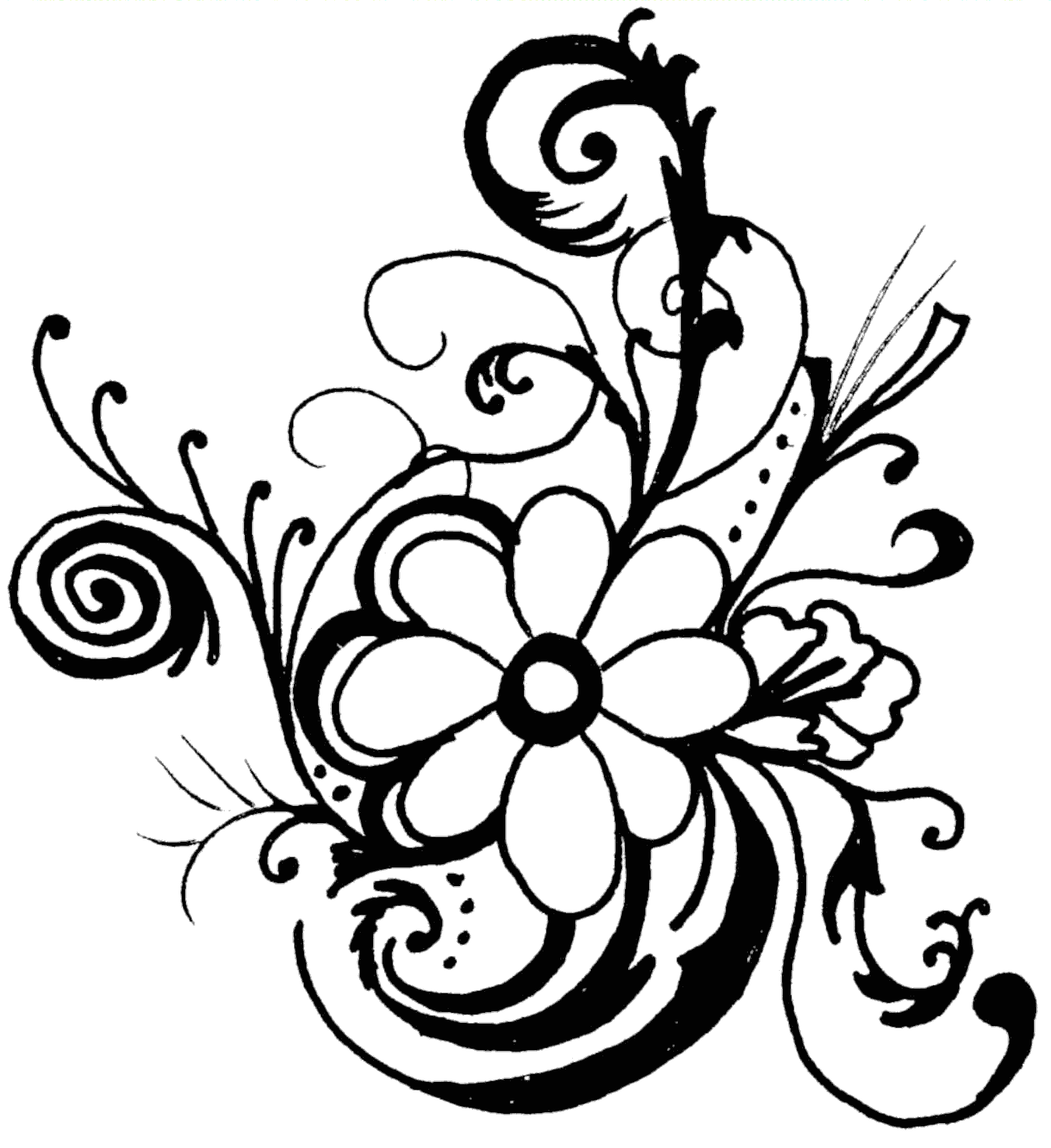 hight resolution of line of flowers clip art clipart library