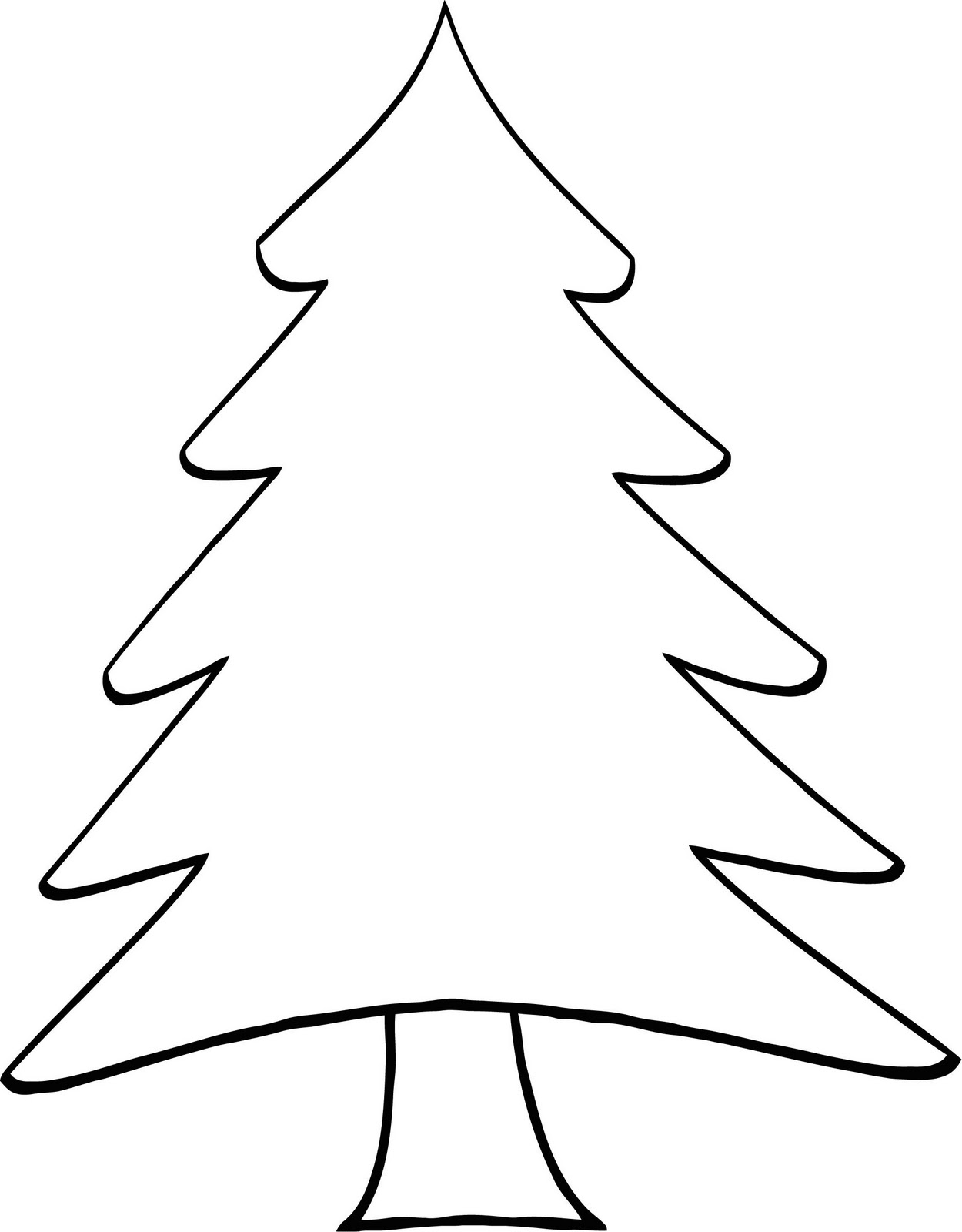 Pine Tree Line Drawing : drawing, Outline,, Download, Clipart, Library