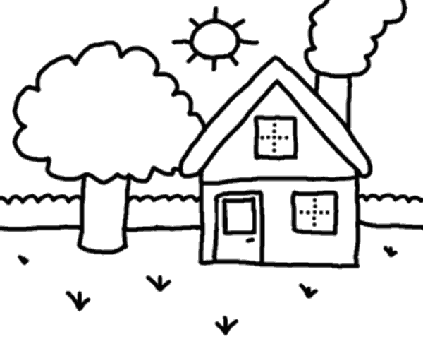 Free Outline Of A House, Download Free Clip Art, Free Clip