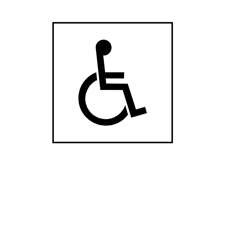 free printable handicap sign