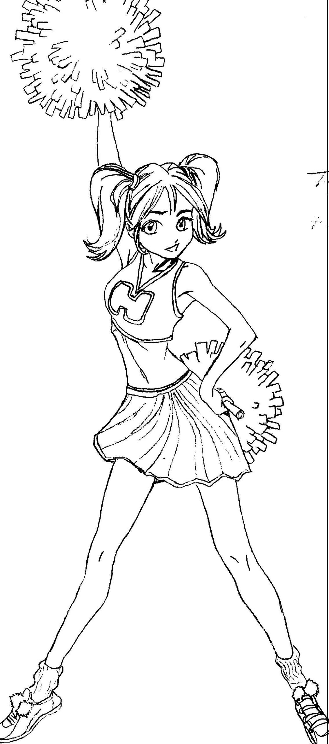 best quality cheerleading coloring pages : Uncategorized