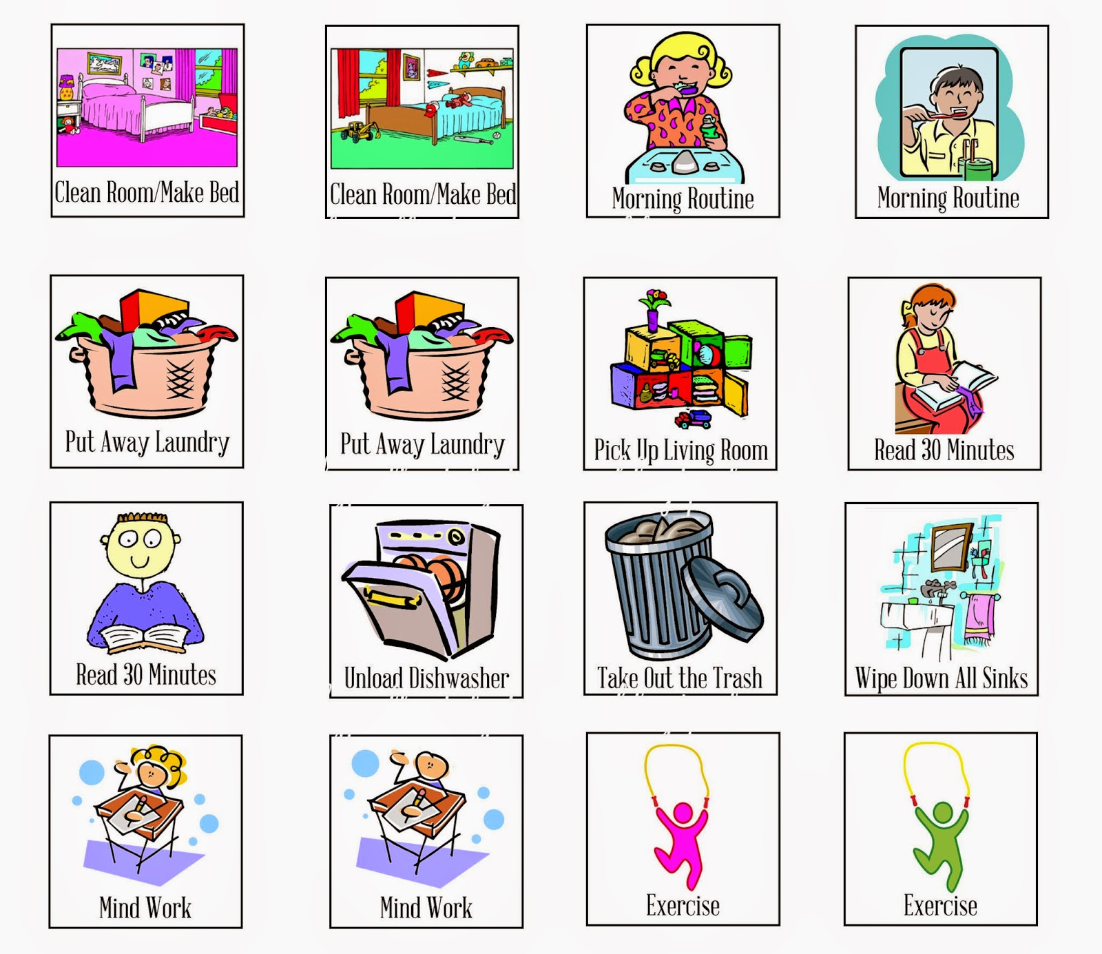Make A Clip Art Chart Cliparts