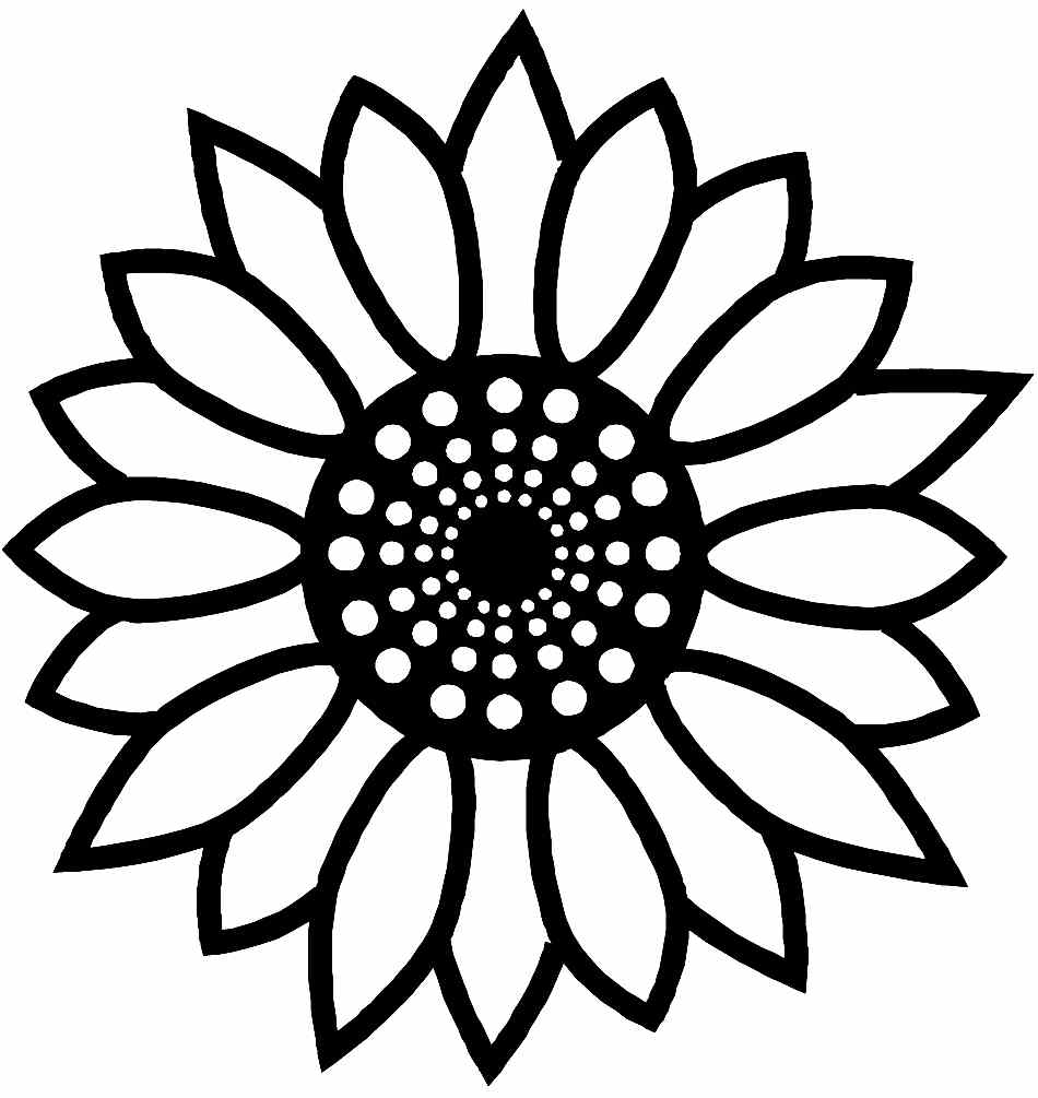 Free Printable Coloring Pages Sunflower Flowers For Little