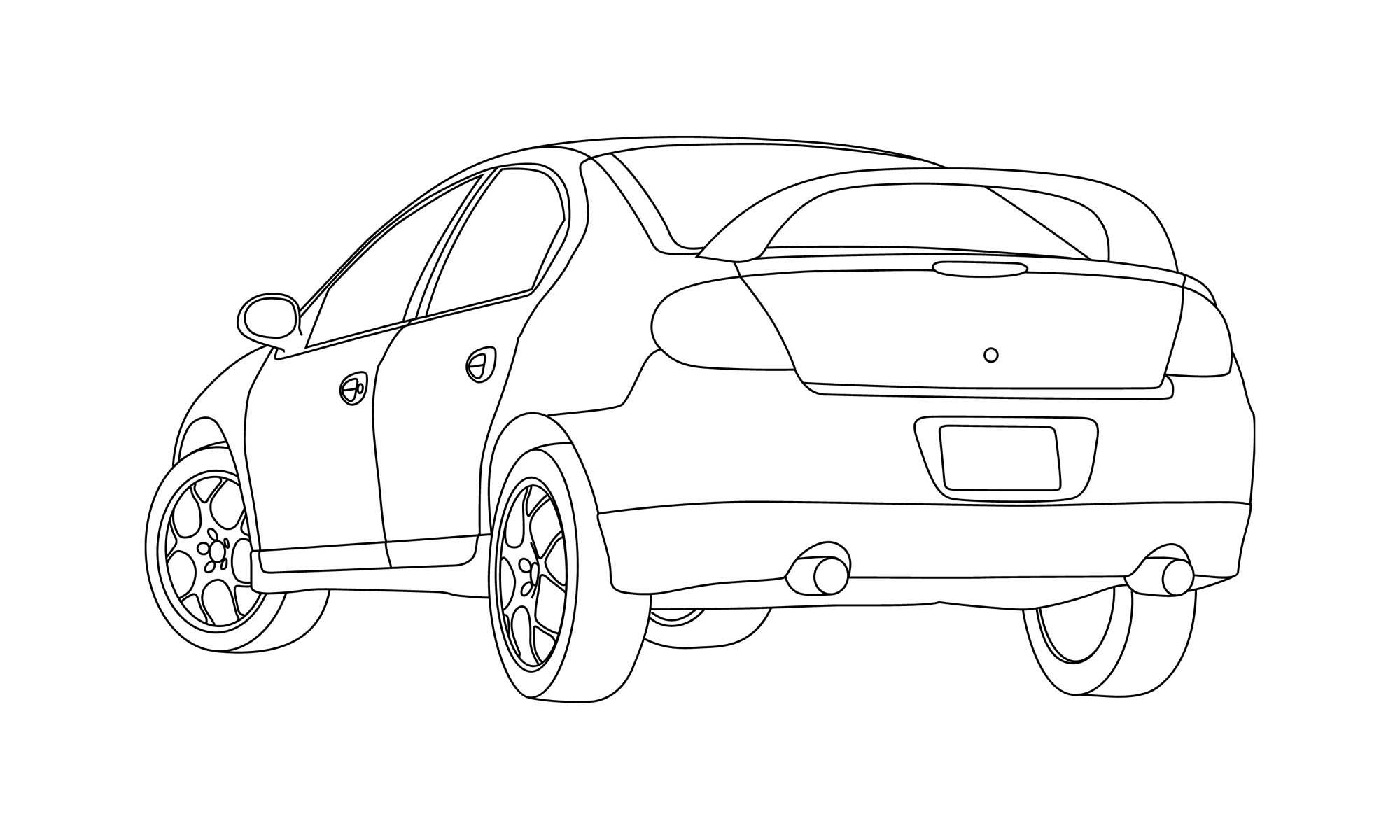 Srt 4 Line Drawing