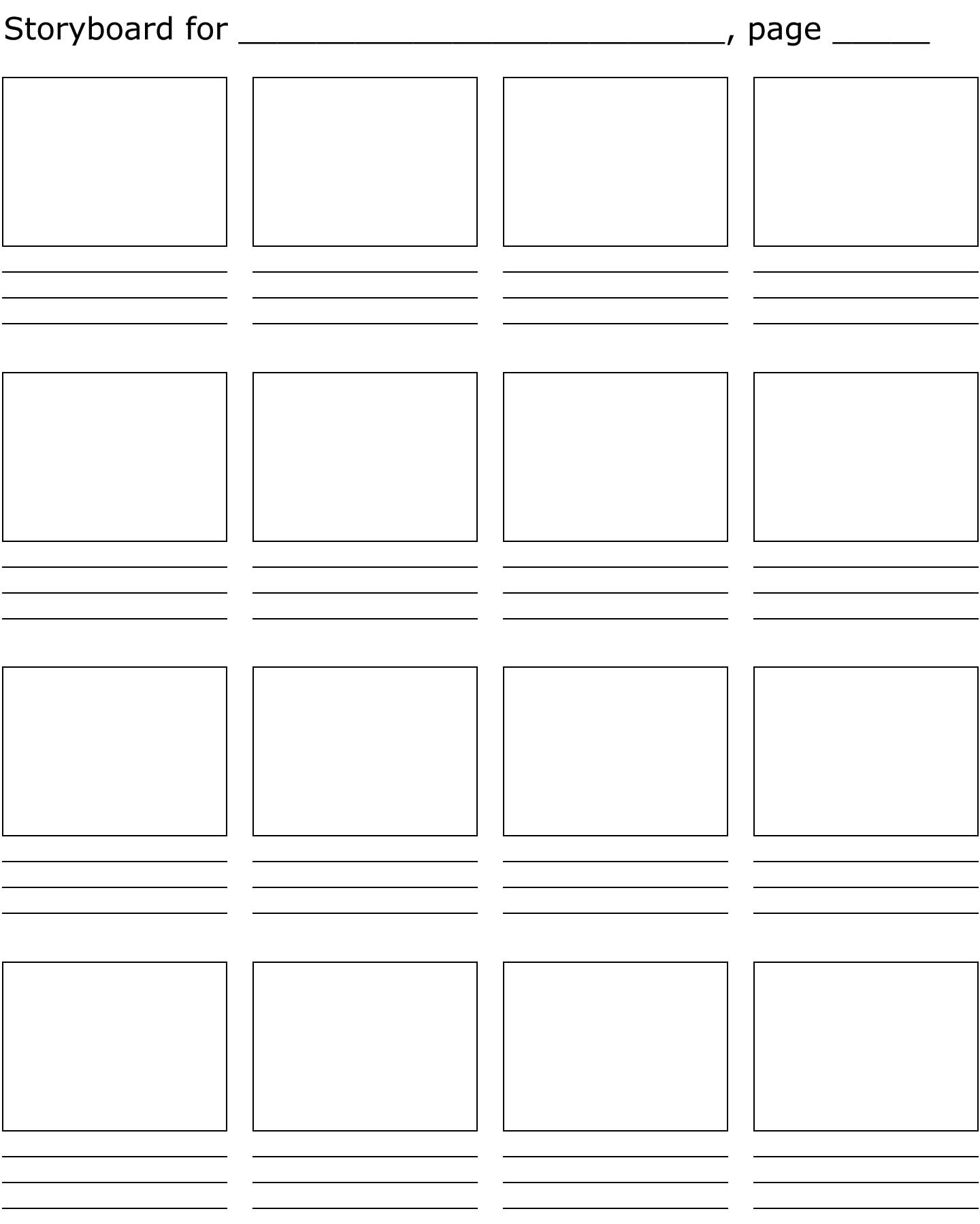 Free Storyboard Printable Download Free Clip Art Free