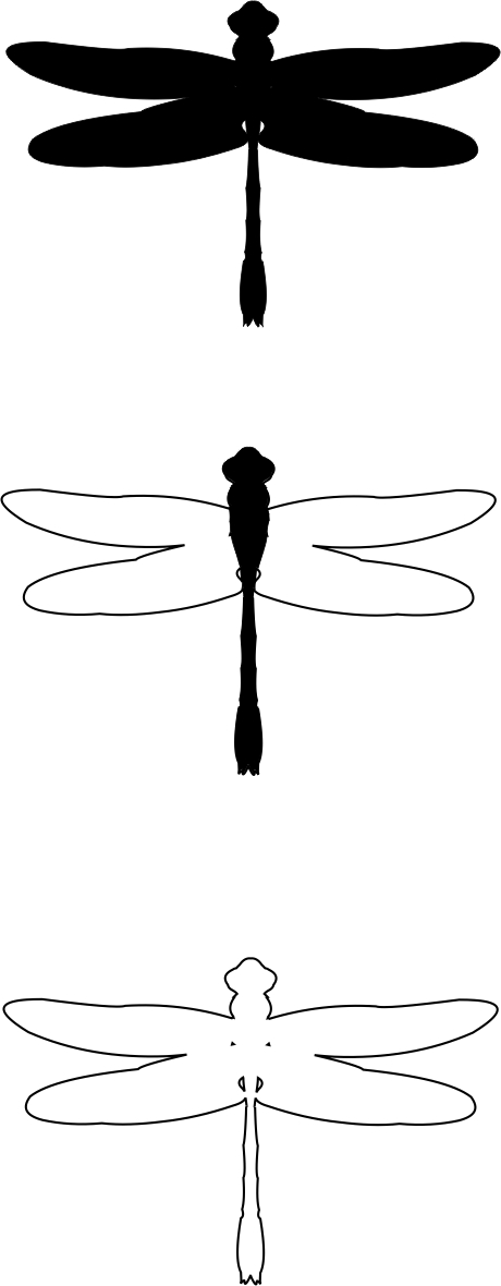 free dragonfly outline