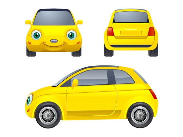 cartoon car character