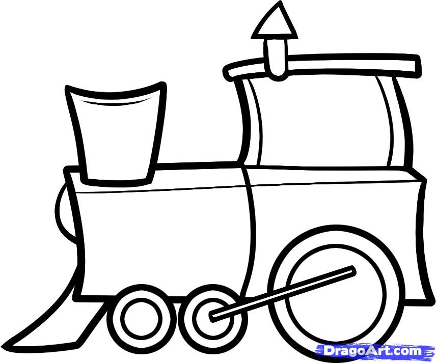 How to Draw a Train for Kids, Step by Step, Trains
