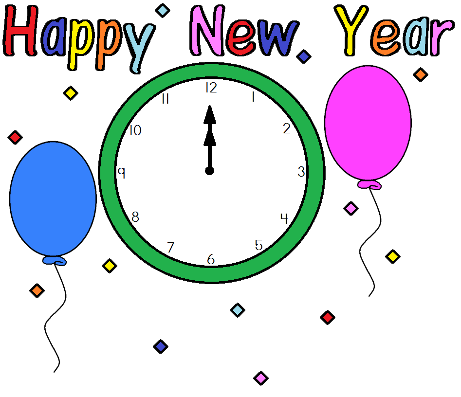 2013 Happy New Year ClipArt Free | Download Printable Monthly Calendar
