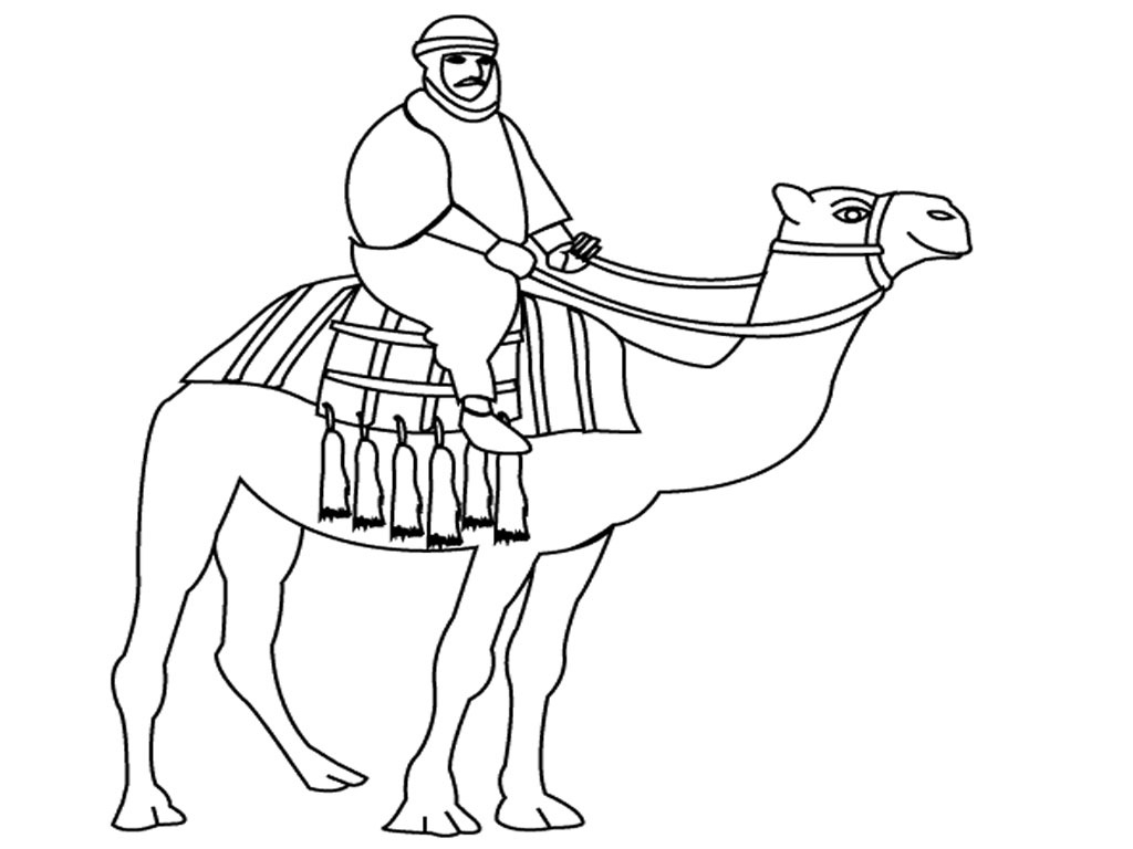 Free Drawing Of Animal Camel In Desert Download Free Clip