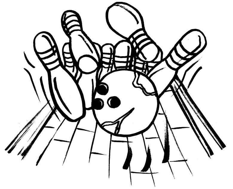 Bowling Coloring Pages #6030 Disney Coloring Book Res: 780x632