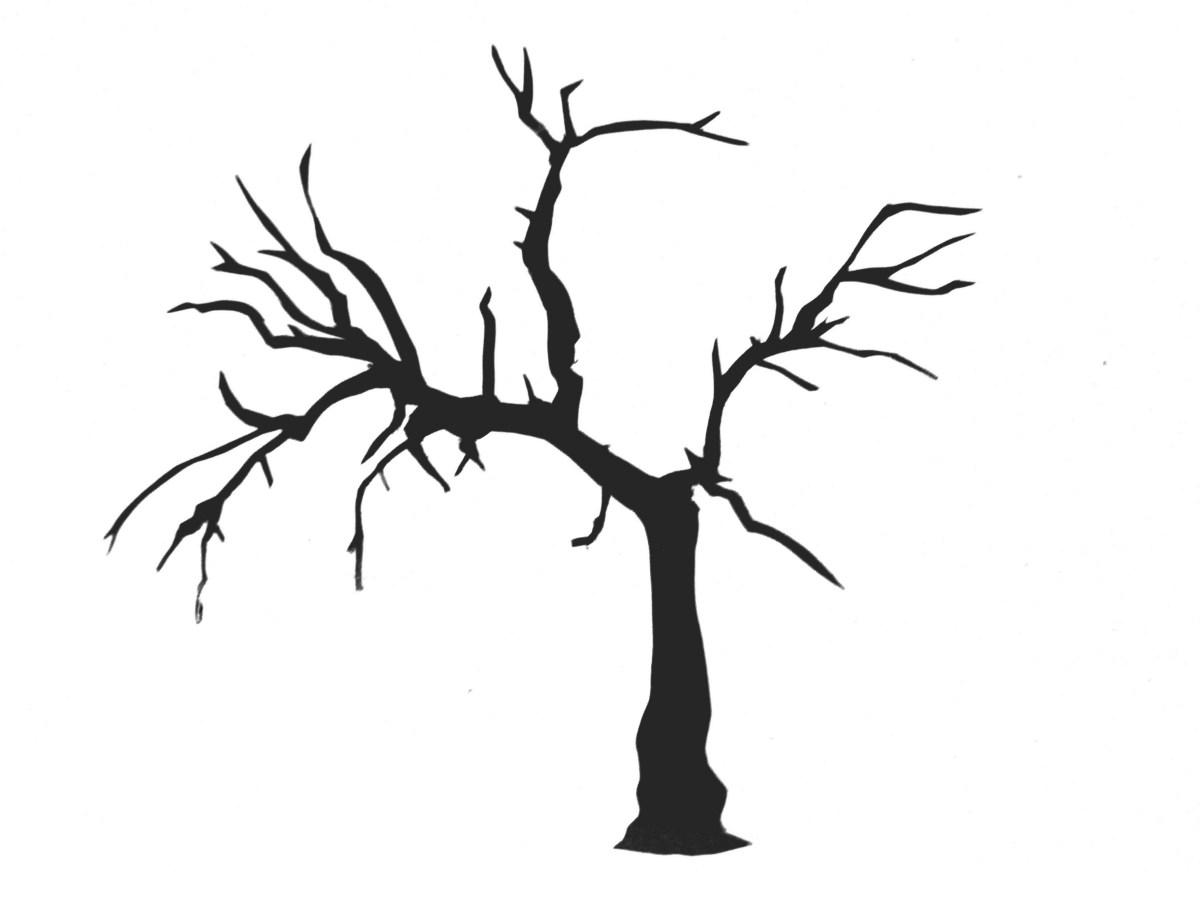 hight resolution of saraccino tree stencil