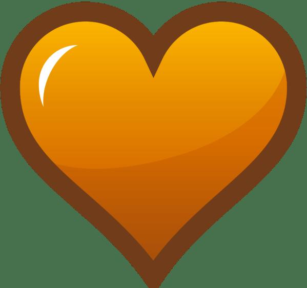 Orange Heart Clip Art