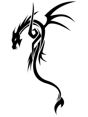 dragon tribal simple tattoo clipart drawing anbu designs tattoos outline clip library cliparts deviantart drawings draw chan cool evil ink