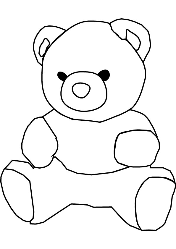 Free Teddy Bear Black And White, Download Free Clip Art