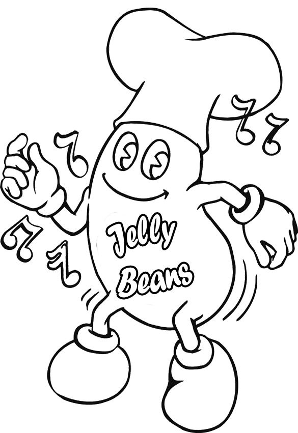 Bean Coloring Page